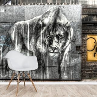 Guarded by the Lion Wallpaper Wall Murals