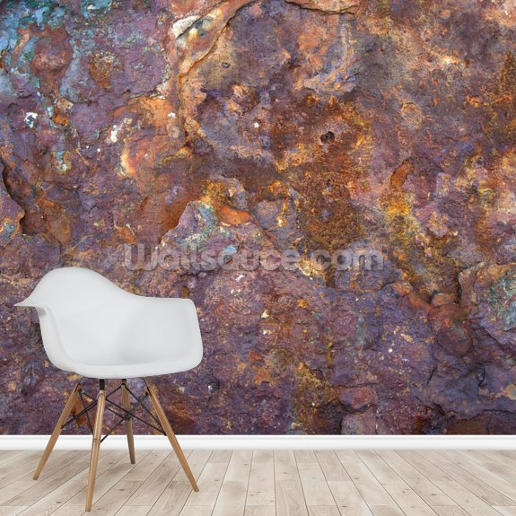 Corrosion wall mural room setting