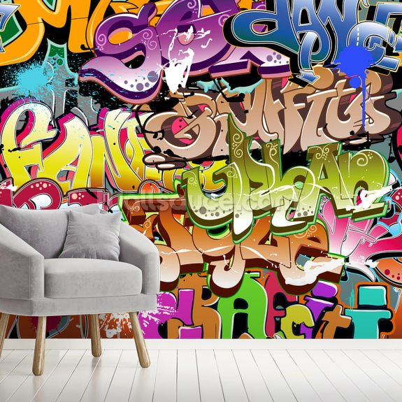 The Words wallpaper mural room setting
