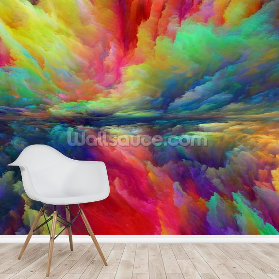 Vision of Abstract Landscape mural wallpaper room setting