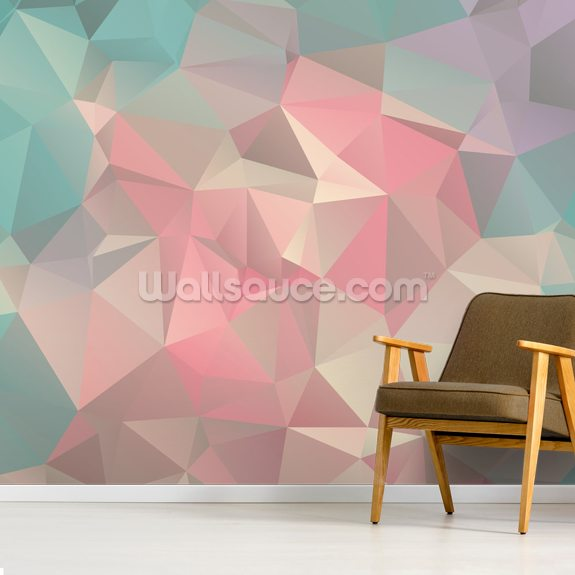 Subtle Tones mural wallpaper room setting