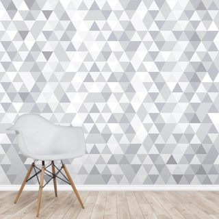 Grey and White Triangles