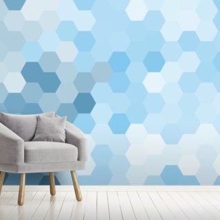 Pastel Blue Hexagon