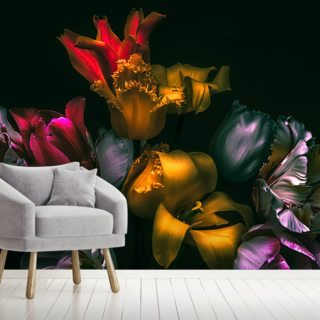 Exotic Blooms Wallpaper Wall Murals