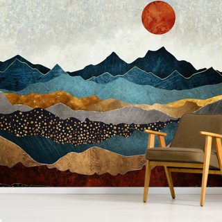 Amber Dusk Wallpaper Wall Murals