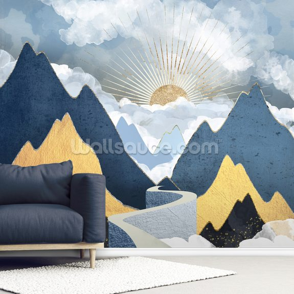 Bright Future II mural wallpaper room setting