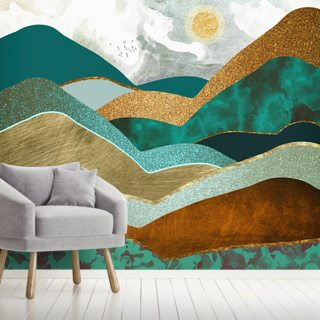 Golden Hills Wallpaper Wall Murals