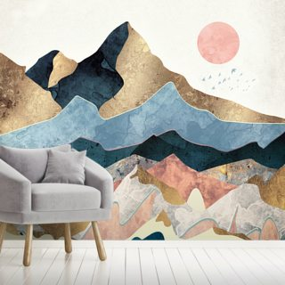 Golden Peaks Wallpaper Wall Murals