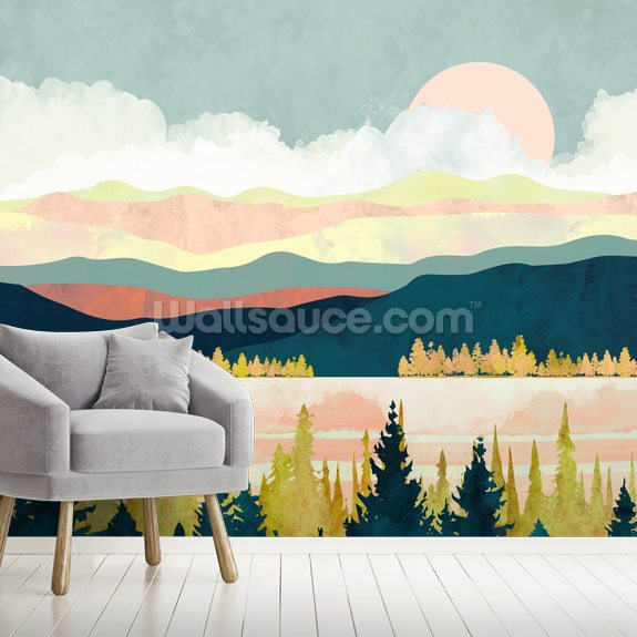 Lake Forest wall mural room setting
