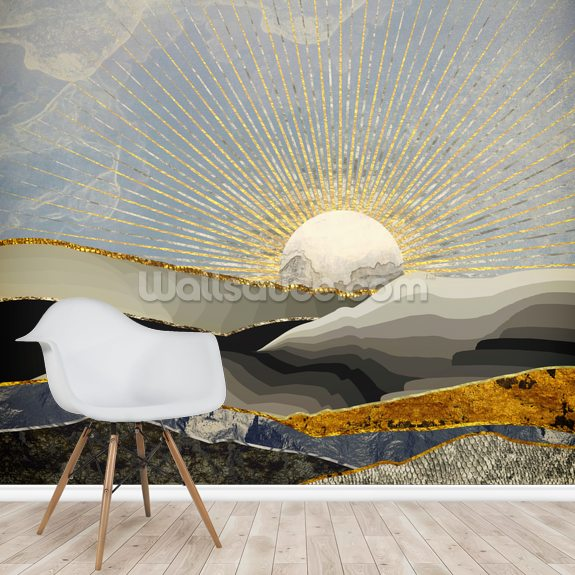 Morning Sun Wall Mural by SpaceFrog Designs mural wallpaper room setting