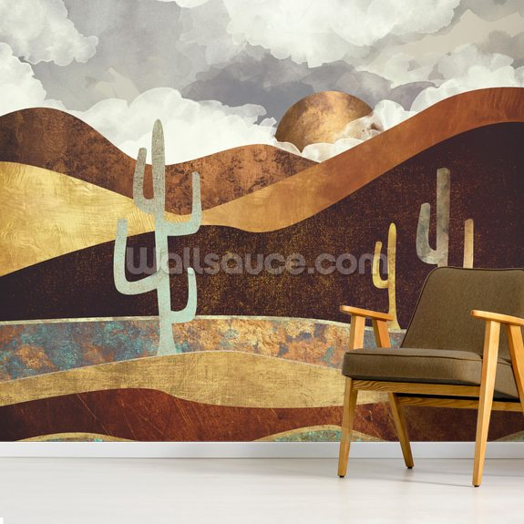 Patina Desert wallpaper mural room setting