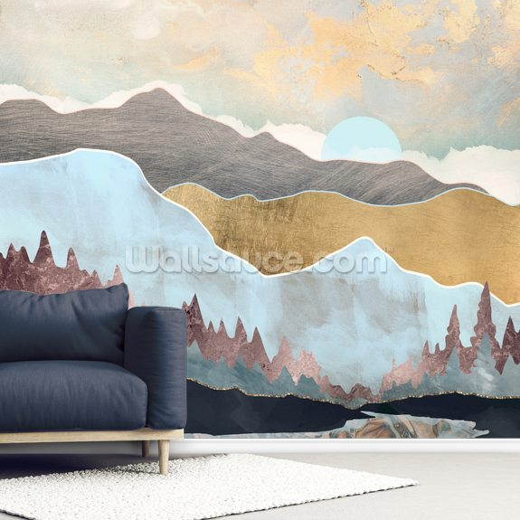 Winter Light wall mural room setting