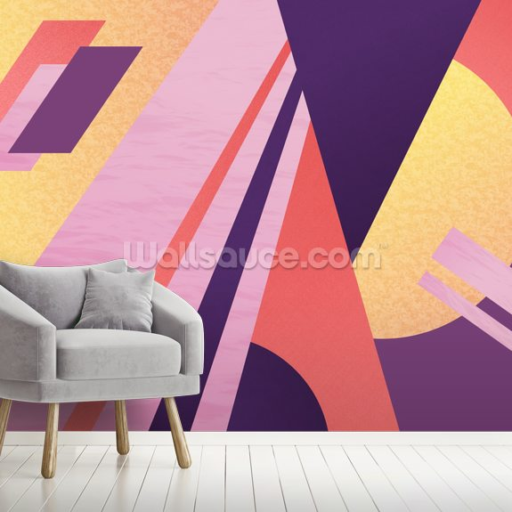 Miami Electric wall mural room setting