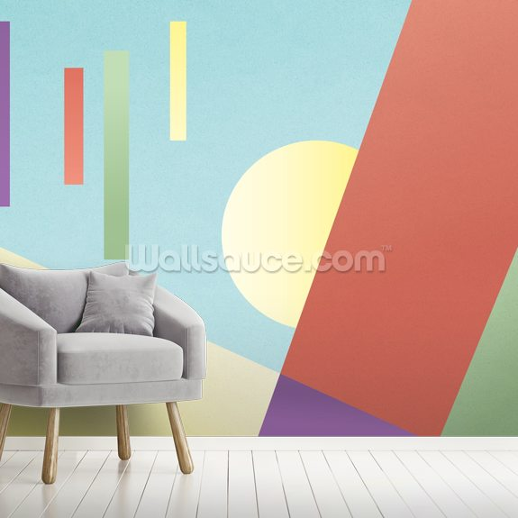 Retro Melody wallpaper mural room setting