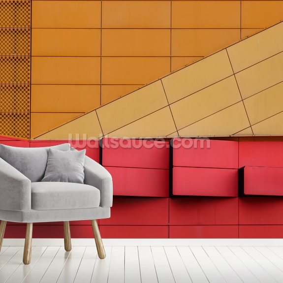 Fresh Air Abstract mural wallpaper room setting