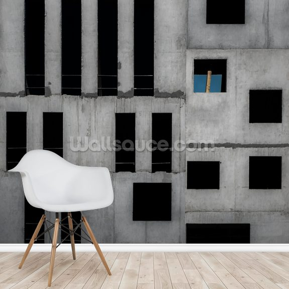 Concrete Shapes wall mural room setting