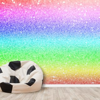 Rainbow and Pastel Glitter Wallpaper Wall Murals
