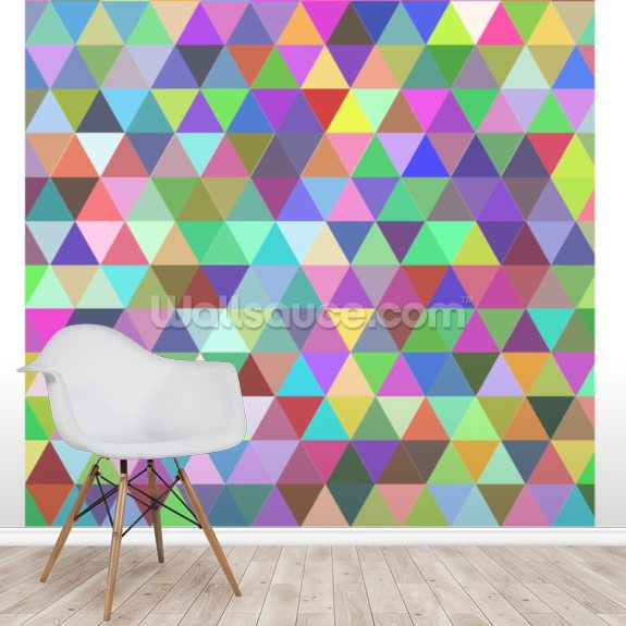 Multi Coloured Triangle Geometric Wallpaper Wallsauce Au