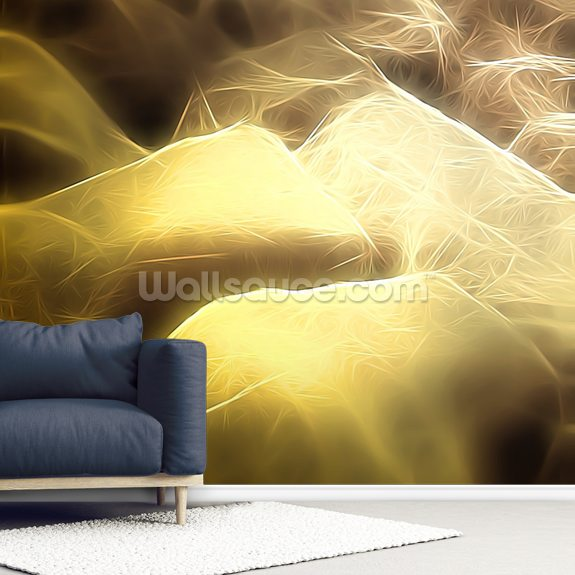Light Bolders mural wallpaper room setting