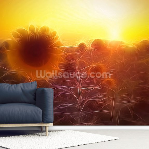 Light Bright Greetings wall mural room setting