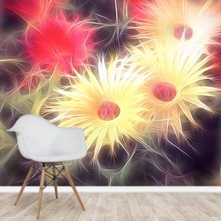 Light Daisy Gang Wallpaper Wall Murals