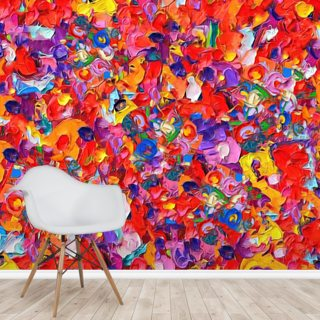 Multicoloured Poppies Wallpaper Wall Murals