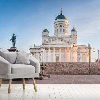 Cathedral in Helsinki Wallpaper Wall Murals