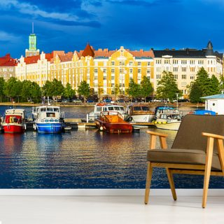 Helsinki Waterfront Wallpaper Wall Murals
