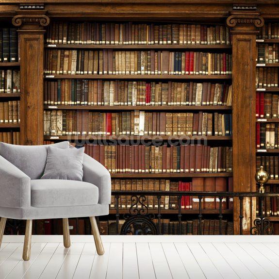 Library Books Wallpaper Mural Wallsauce Nz