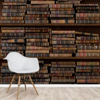Horizontal Books Wallpaper Wall Murals