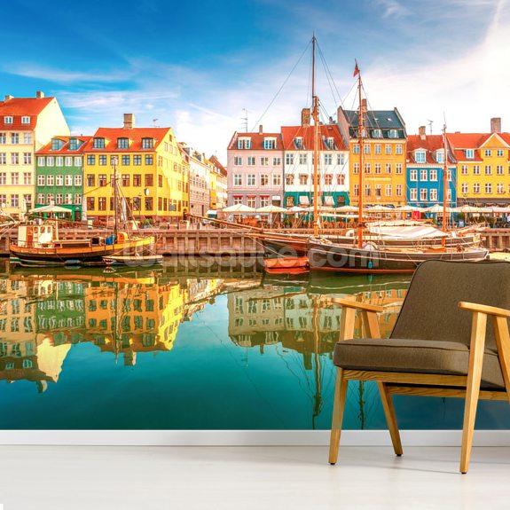 Nyhavn copenhagen wallpaper mural wallsauce au - Copenhagen wallpaper ...