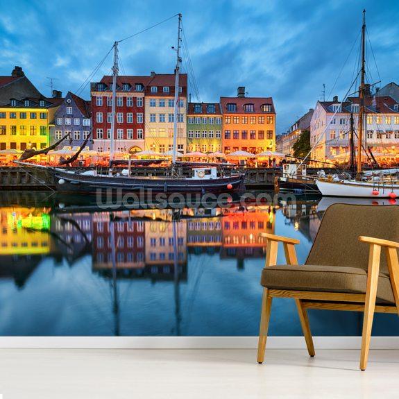 Nyhavn In Copenhagen Wallpaper Mural Room Setting