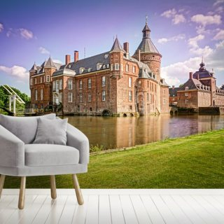 Castle and Moat, Anholt Wallpaper Wall Murals