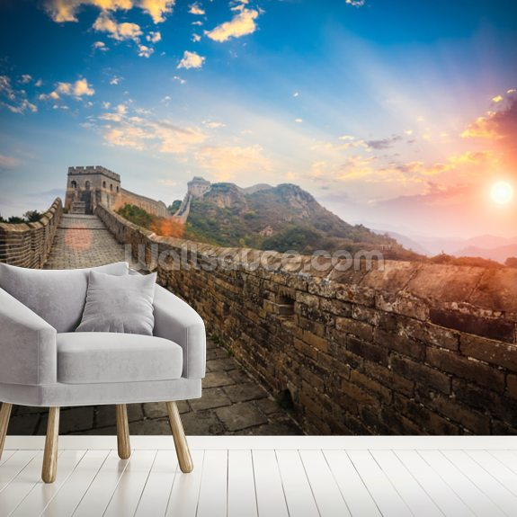 Great Wall of China Sunset wall mural room setting