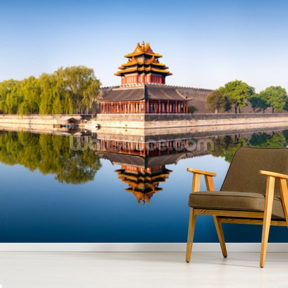 Beijing Panorama wall mural room setting