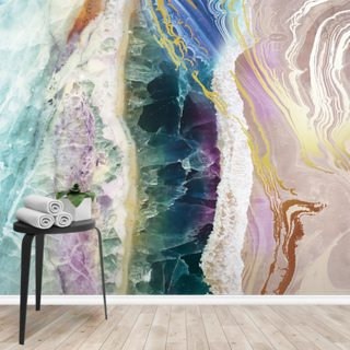 Rock Pool Beach Wallpaper Wall Murals