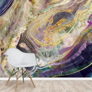 Gold Dust Purple Wallpaper Wall Murals