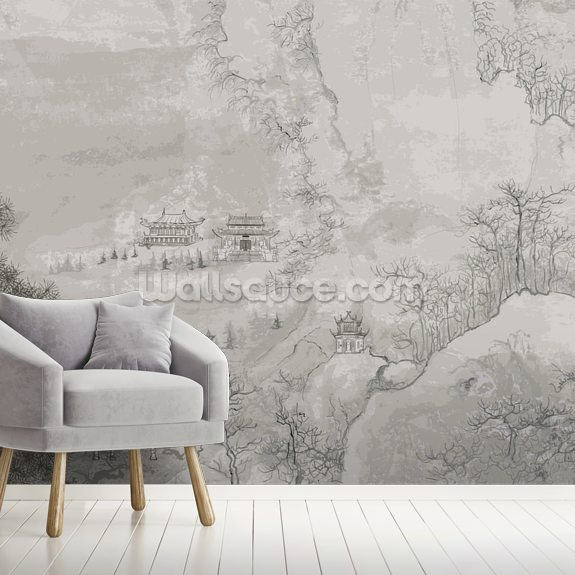 landscape, china wallpaper mural wallsauce uslandscape, china wall mural room setting