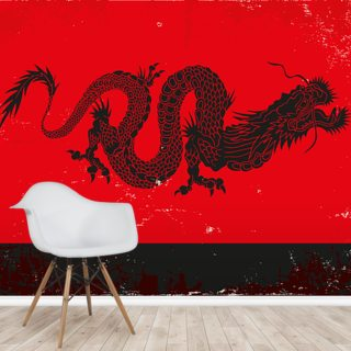 Black Dragon Wallpaper Wall Murals