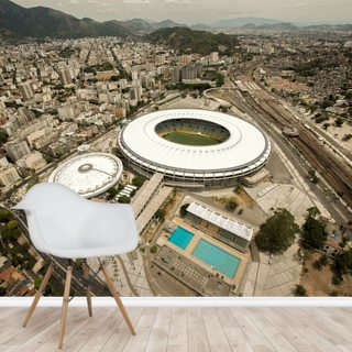 Aerial View of Maracana Football Stadium Wallpaper Wall Murals
