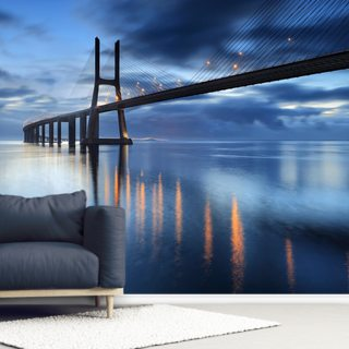 Bridge at Night Wallpaper Wall Murals