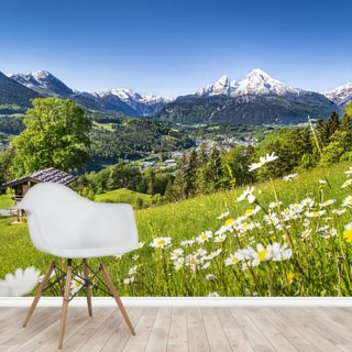 Alps, Bavaria Wallpaper Wall Murals