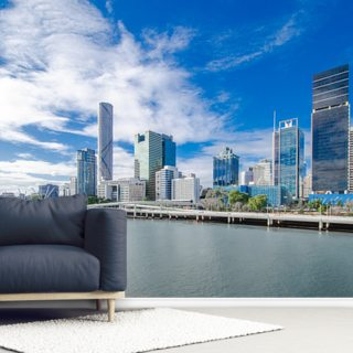 Skyline Brisbane Wallpaper Wall Murals
