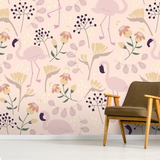 Flamingo Pink Wallpaper Wall Murals