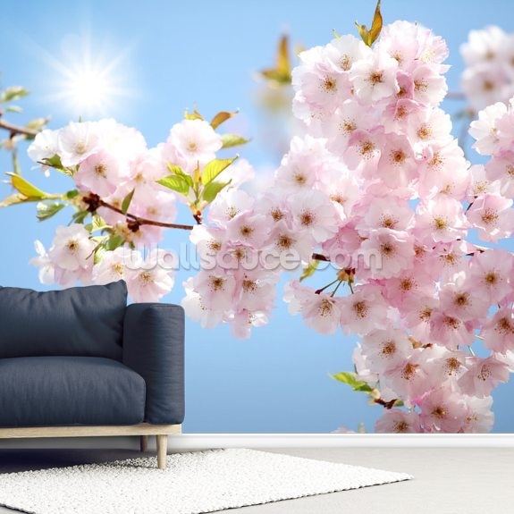 Blossom against a Blue Sky wall mural room setting