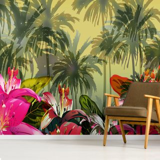 Tropical Lilly Scene