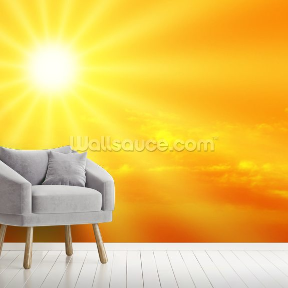 Sunbeam mural wallpaper room setting