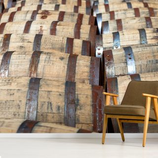 Bourbon Barrels Wallpaper Wall Murals