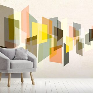 Angular Shapes Wallpaper Wall Murals