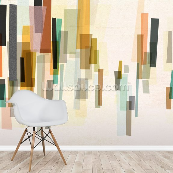 Blurred wallpaper mural room setting